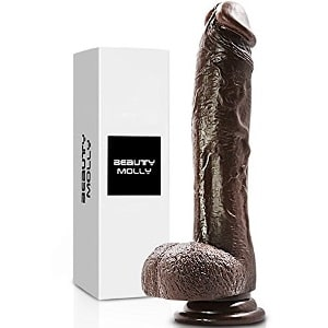 Beauty Molly 8 Inch Black Dildo